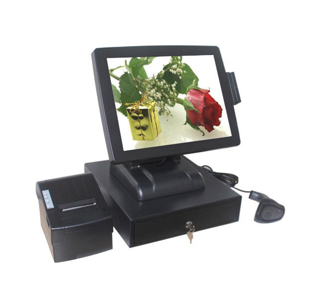 32G SSD Touch Screen Pos System With 10 Points Capacitive Touch Screen